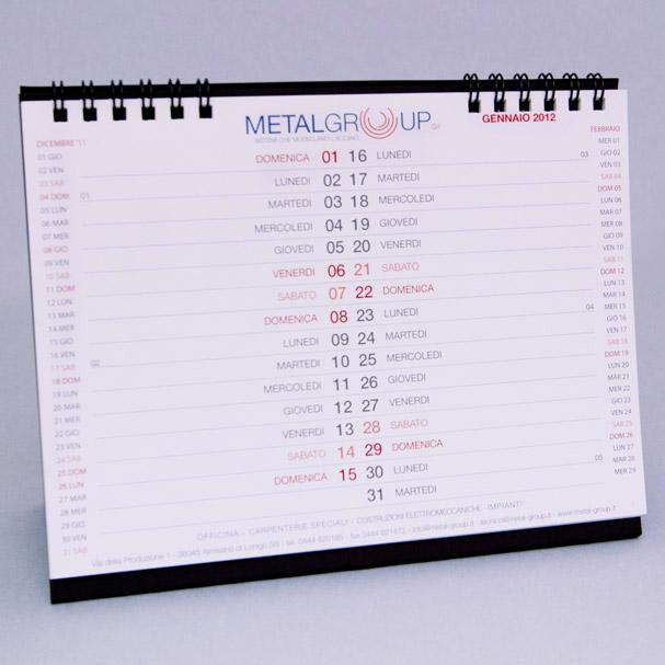 Calendario 2012 Metalgroup