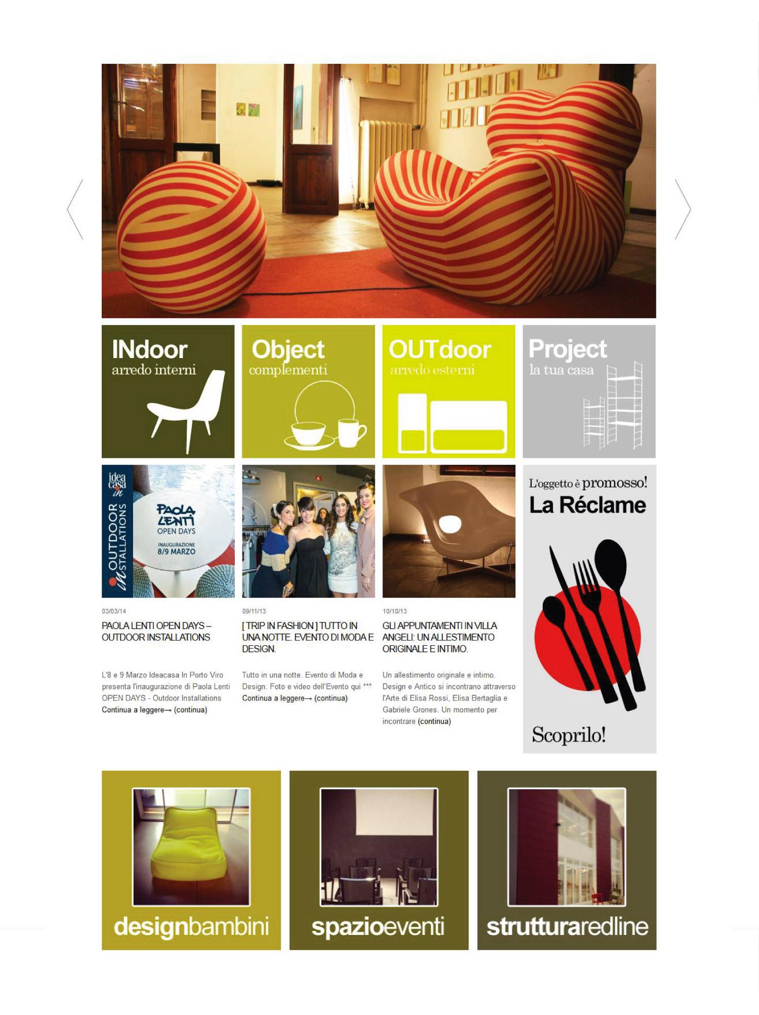 Sito internet per negozio arredamento studio 7am studio for Siti arredamento
