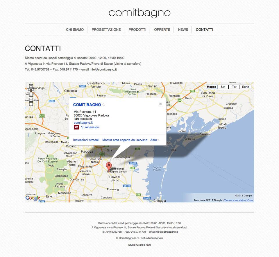 Comit Bagno - Studio 7AM Studio Grafico Padova