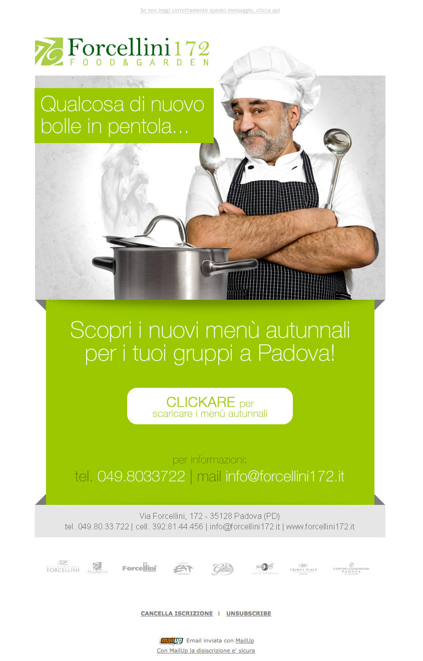 Email marketing per ristorante