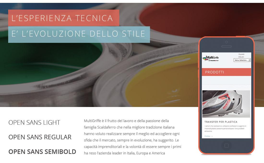 Sito web per produttore moda