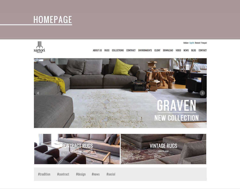 Sito web per azienda produttrice di tappeti studio 7am - Sartori tappeti rovigo ...