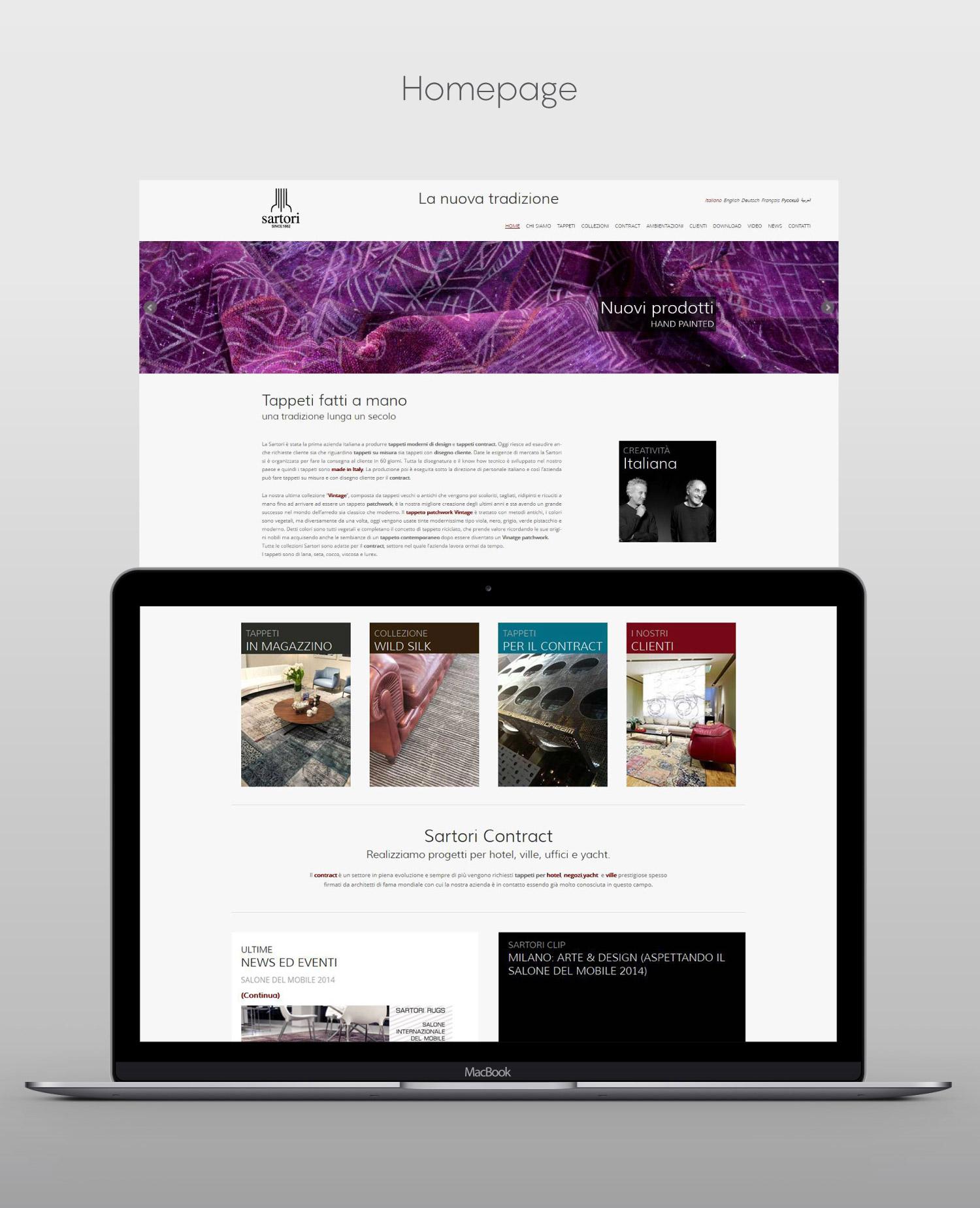 Sito web per azienda del settore arredamento studio 7am for Web arredamento